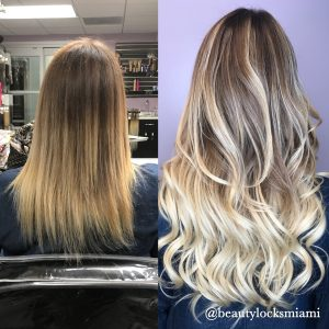 Hair Extensions Coloring