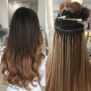 Hair Extensions Micro Beads application